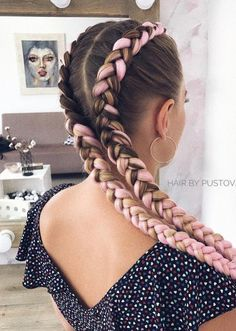 25 different braids You have to learn how to make this beautiful braided hair style! Summer is fast approaching! Braided hairstyles that can make us f. Long Face Hairstyles, Box Braids Hairstyles, Pretty Hairstyles, Ethnic Hairstyles, Evening Hairstyles, Hairstyle Ideas, Wedding Hairstyles, Curly Hair Braids, Long Hairstyles