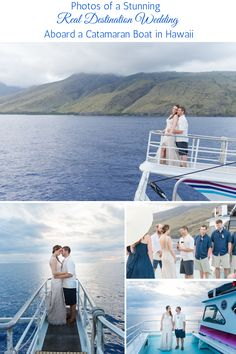This catamaran wedding in Maui was so unique and gorgeous. Wedding Tips, Wedding Details, Wedding Sunglasses, Marry Your Best Friend, Destination Wedding Locations, Maui Weddings, Big Challenge, Hawaiian Islands, Catamaran