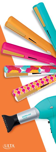 Grab Ultra CHI's limited edition spring collection of flatirons & blow dryers at Ulta Beauty to brighten up your style.