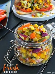 The BEST Fresh Pickle Veggie Relish - perfect for BBQs!