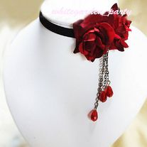 Black Double Red Rose Rococo Goth Cocktail Party Bridal Velvet Necklace sold by White Garden. Shop more products from White Garden on Storenvy, the home of independent small businesses all over the world. Cute Jewelry, Diy Jewelry, Jewelery, Jewelry Accessories, Fashion Accessories, Jewelry Making, Heart Jewelry, Jewelry Box, Jewelry Necklaces