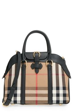 Burberry 'Medium Milverton - House Check' Satchel available at #Nordstrom