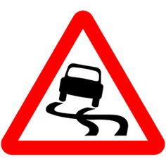 The Highway Code leaflet 'Warning signs' lists all the warning signs used on British roads that alert drivers, riders and cyclists to road conditions, junctions and dangers on the road. Highway Code Signs, Driving Theory, Road Texture, Funny Road Signs, Stopping Power, Car Themes, Warning Signs, Colors, Atelier