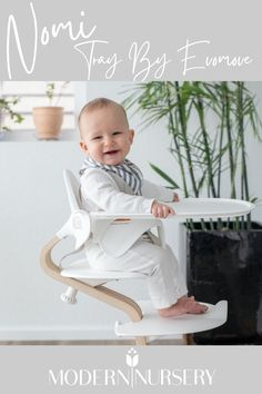 The Nomi Tray by Evomove is perfet for having your little one join the rest of your family at the table!