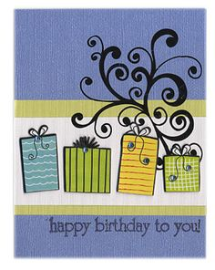 Happy Birthday March - Aquamarine - Scrapbook.com - #scrapbooking #cardmaking