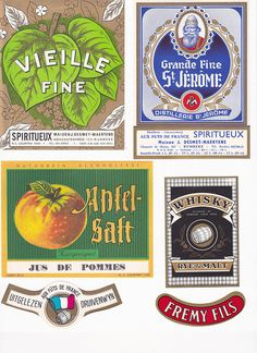 An array of free printable French vintage labels