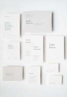 Clean Minimal Typography Wedding Invitation by Ettie Kim