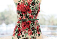 A fine waist defined by flowers... See more on TheLightOfCannes.com #TheLightOfCannes