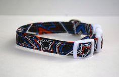 Patriotic Stars Dog Collar // Handmade & by PawesomePups on Etsy