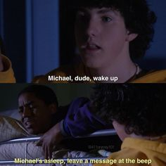 Zoey 101 Michael and Chase Old Nickelodeon Shows, Icarly And Victorious, Dan Schneider, Old Disney Channel, Zoey 101, Child Hood, Funny Scenes, Garlic Shrimp, Tv Show Quotes