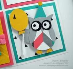 Retiring: My Favorite Stampin' Up! Punches (DOstamping with Dawn) Owl Punch, Punch Art, Stampin Up, Colouring Techniques, Paper Crafts, Diy Crafts, Candy Cards, Art Projects, Card Making