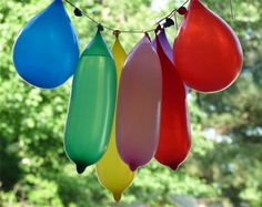 Pool party take on the traditional piñata!  Water balloons, so everyone gets wet = more fun!