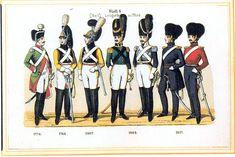 Plate 8: Leibgarde Horse, 1776-1817 by Leo Ignaz von Stadlinger - Geschichte des württembergischen Kriegswesens - Uniforms of the troops of Württemberg