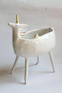 Meet Sequin the Unicorn. Part bowl, part planter, 100% necessary