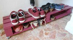 Полка для обуви из деревянного поддона - паллеты