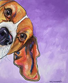Are you interested in a Beagle? Well, the Beagle is one of the few popular dogs that will adapt much faster to any home. Beagle Art, Beagle Puppy, Dog Canvas Painting, Animal Paintings, Cute Beagles, Cute Dogs, Peek A Boos, Dog Portraits, Painting Inspiration