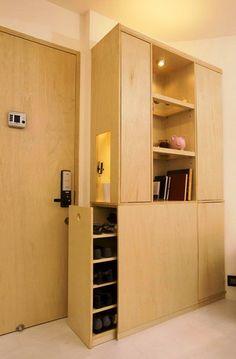small apartment design multifunction storage