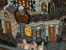 LEMAX CHRISTMAS VILLAGE LIGHTED HOUSE FOX & HOUND PUB RESTAURANT BAR RARE TAVERN