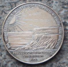 Bergbau Medaille 1956 Silber Rammelsberg Harz Bergrat Loebner PREUSSAG Bernstein
