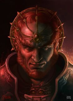 Ganon- freakin awesome who ever did this Gannondorf painting