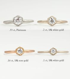 Catbird::shop by category::JEWELRY::Wedding & Engagement::Classic::Hexagon Ring, White Diamond