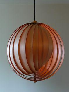 Pine laminate moon lamp