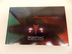 00 2000 Pontiac Montana Owners Manual Book Guide # 7875 -- Awesome products selected by Anna Churchill