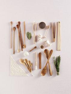 all wood kitchen utensils