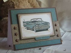 Classic Car birthday by sf9erfan - Cards and Paper Crafts at Splitcoaststampers