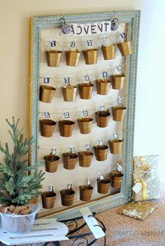 Rustic Christmas Advent Calender #adventcalenders