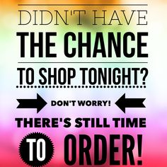 Didn't get to order during all the excitement? Don't worry, there's still time to order! Go to my site and select this party to get your Scentsy favorites! http://CWhiteaker.scentsy.us