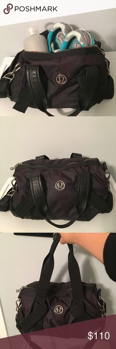 GORGEOUS LULULEMON GYM BAG/TOTE This medium sized lulu gym bag is practically new & barely used! Took amazing care of it. Only clean gym clothes were put into it to change at the gym. The long strap and water proof material make it a stylish and trendy tote for anyone to use as a bag for the gym or even as a handbag or carry-on. The inside has an area for keys, sweaty clothes, and two pockets on the outside for phone, water bottle or whatever you need quick access to. Will sell quick…