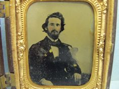 Antique Vintage Daguerreotype Photograph Handsome Young Man 1/9 Frame | eBay