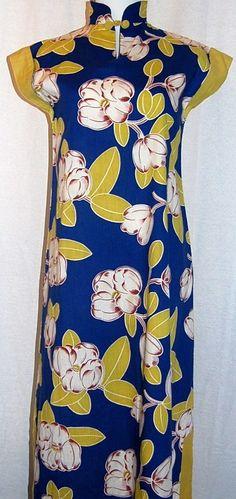 1940s Hawaiian magnolia muu