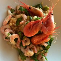 Risotto med reker I Foods, Risotto, Shrimp, Meat, Beef