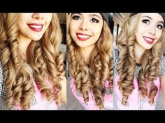 No Heat Big Dolly Curls- Beautyklove - YouTube