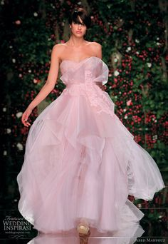 Dreamy pink wedding dress
