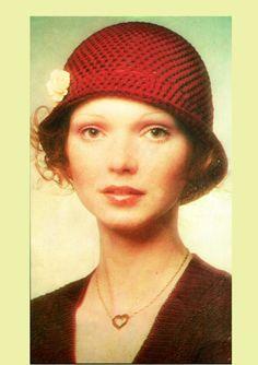 PDF Vintage Ladies Cloche Hat Crochet by TheAtticofKitsch Vintage Knitting, Vintage Crochet, Hippie Chick, Period Costumes, Cloche Hat, Hat Crochet, Vintage Crafts, City Chic, Retro Outfits