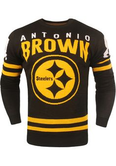 f7da06f92 Pittsburgh Steelers Mens Black Name and Number Sweatshirt Blackest Names