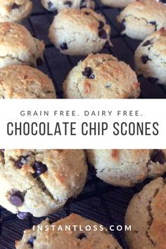 These grain free, dairy free, Chocolate Chip Scones are sure to be a hit wherever you go! Serving Size 1 Scone Makes 25 INGREDIENTS 2 1/4 cup Almond Flour, tightly packed 1/2 tsp Salt 1/2 tsp Baking Soda 2 Eggs 1/4 cup Organic Agave Nectar 1/3 cup Grape Seed Oil 1/3 cup Dairy Free Chocolate …