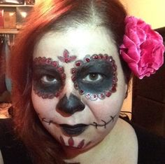 Halloween...Day of the Dead...see what I did there?  How can you not love this makeup for Halloween?  I had just finished this tutorial, walked past my sister in the hallway after she had gotten up from a nap.  She didn't even flinch...what do I look like normally?  I mean really?  She didn't even bat an eye.   Yes I'm a grown up and yes I would walk around like this all the time if I could.  You're a little weird too otherwise why would you be watching me? #dayofthedead #elenivtv #makeup
