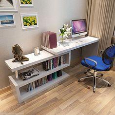 New SIENA White High Gloss Computer PC Home Executive Study Office Corner Desk: Amazon.co.uk: Kitchen & Home