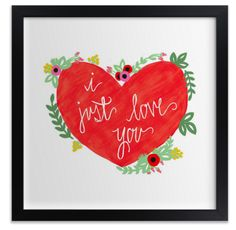 Tell her how much you love her with the gift of art from Minted this Valentine's Day