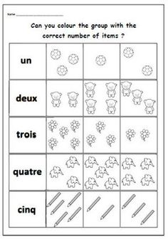 French Worksheets for Kids. 20 French Worksheets for Kids. French Worksheets, Number Worksheets, Teacher Worksheets, Kindergarten Worksheets, Worksheets For Kids, Printable Worksheets, Kindergarten Rules, Free Printable, French Flashcards