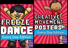 Great for brain breaks or for inspiring creative movement, this set will have your kids wiggling those wiggles out and exploring a wide range of motions. Included in this set:Every Day Freeze DanceIn this activity students dance to the music that you choose (some suggestions are included) and freeze in a pose on one of the freeze cards.