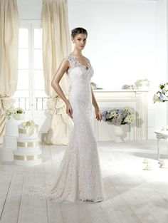 """Chiara"" #WeddingDress by Novia D'Art, 2014 Collections. www.noviadart.com"