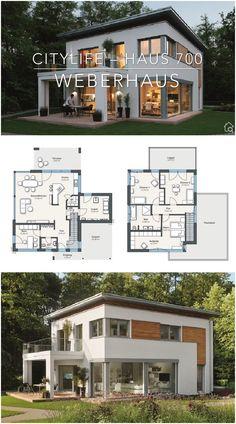 Architecture Bauhaus, Villa Architecture, Modern Architecture Design, Modern House Design, Concept Architecture, Drawing Architecture, 2 Storey House Design, Modern House Floor Plans, Dream House Plans