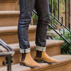 Honey Suede Duke Chelsea Boot   Thursday Boot Company