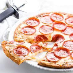 Fathead Pizza Crust (Low Carb, Keto, Gluten-free, Nut-free) - 4 Ingredients