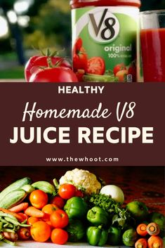 This Homemade Juice is the best way to get a big dose of veggies, every single day and it's so much healthier than store bought. Watch the video now. Canned V8 Juice Recipe, Homemade Tomato Juice, Tomato Juice Recipes, V 8 Juice Recipe, V 8 Recipe, Juicing With A Blender, Juicing For Health, Cherry Pepper Recipes, Green Tea For Weight Loss